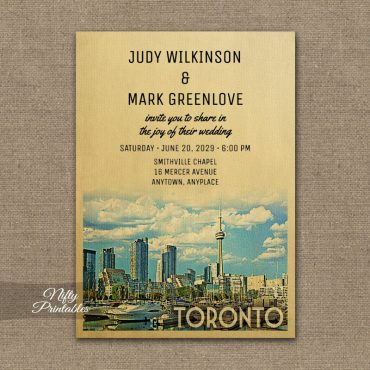 Toronto Wedding Invitation PRINTED