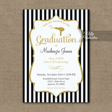 Cosmetology Graduation Announcement Invitation PRINTED