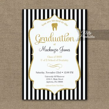Dental School Graduation Announcement Invitation PRINTED