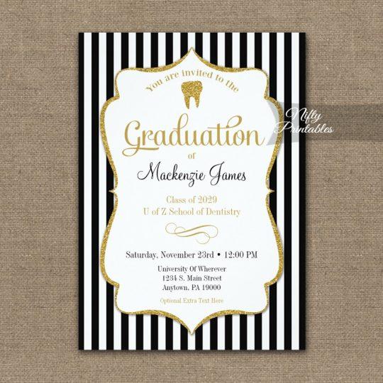 Dental School Graduation Announcement Invitations PRINTED