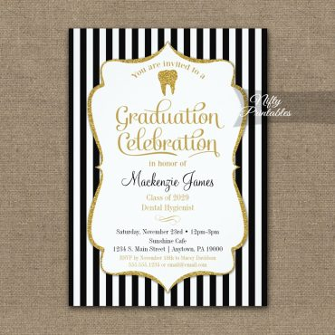 Dental School Graduation Party Invitation PRINTED
