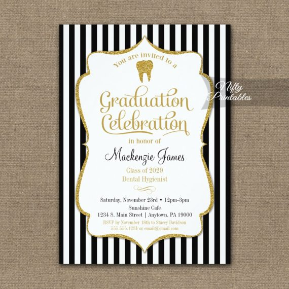 Dental School Graduation Party Invitation PRINTED