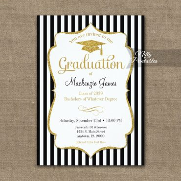 Elegant Graduation Announcement Invitations PRINTED