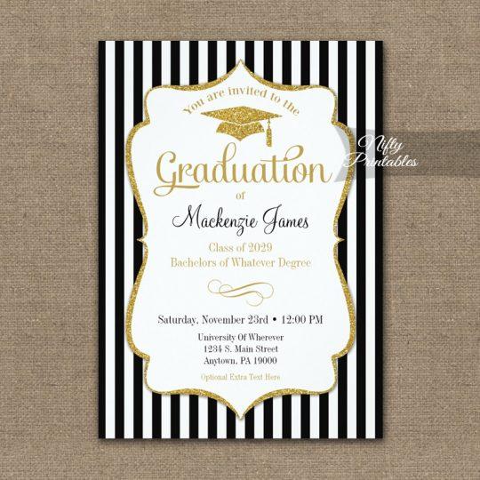Elegant Graduation Announcement Invitations PRINTED