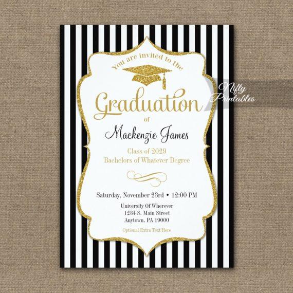 Elegant Graduation Announcement Invitation PRINTED