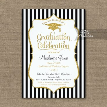 Elegant Graduation Party Invitations PRINTED
