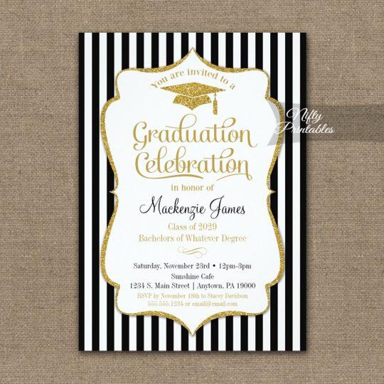 Elegant Graduation Party Invitations PRINTED