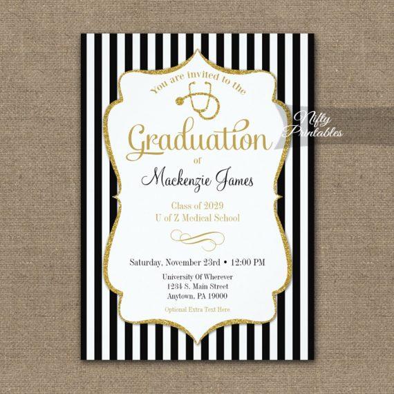 Medical School Graduation Announcement Invitation PRINTED