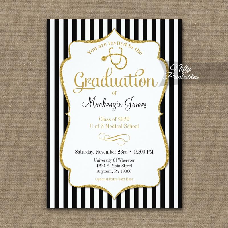 Medical School Graduation Announcement