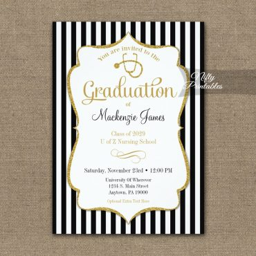 Nursing School Graduation Announcement Invitation PRINTED