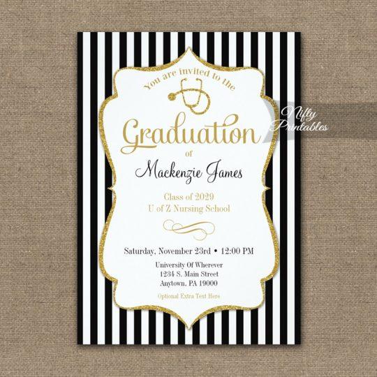 Nursing School Graduation Announcement Invitations PRINTED