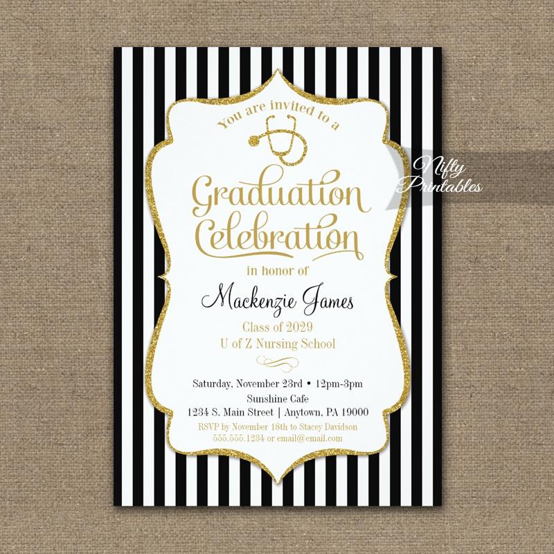 Nursing school graduation party invitation printed nifty printables nursing school graduation party invitation printed filmwisefo
