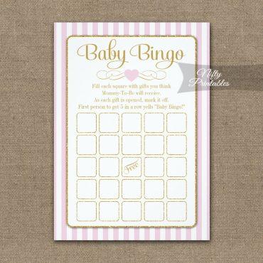 Baby Bingo Game Pink Gold PRINTED