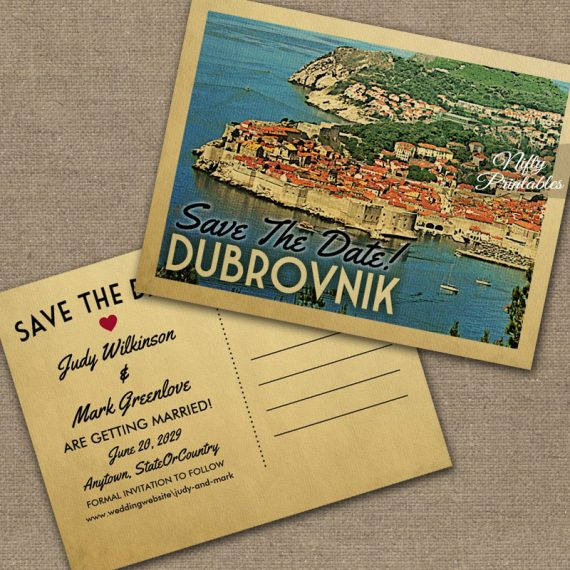 Dubrovnik Save The Date PRINTED