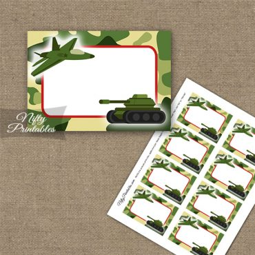 Army Green Camo Blank Labels
