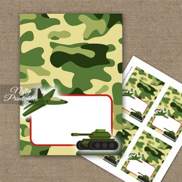Army Green Camo Tent Cards - Place Cards