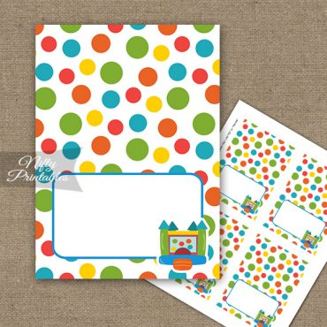 Bounce House Birthday Tent Cards - Place Cards
