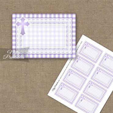 Baptism Purple Lace Blank Labels