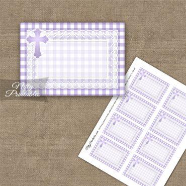 Baptism Purple Lace Blank Labels