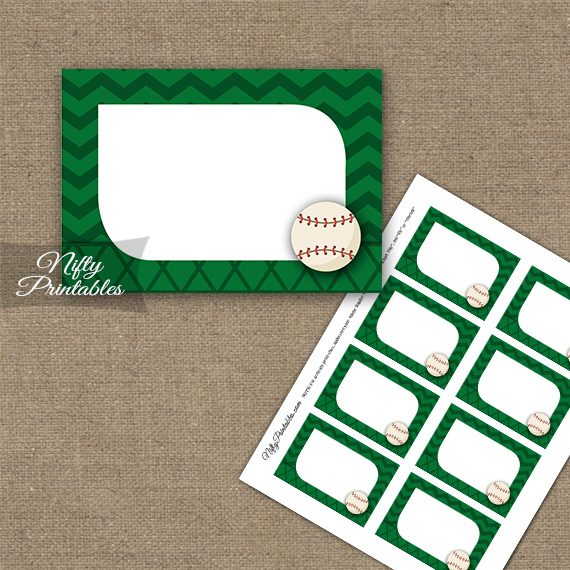 Baseball Birthday Blank Labels