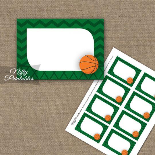 Basketball Birthday Blank Labels