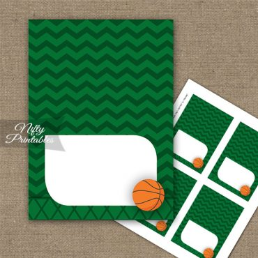 Basketball Birthday Folded Tent Place Cards