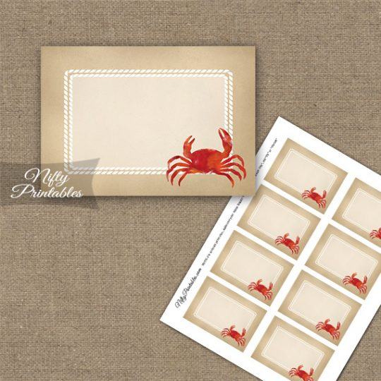 Crab Party Blank Labels