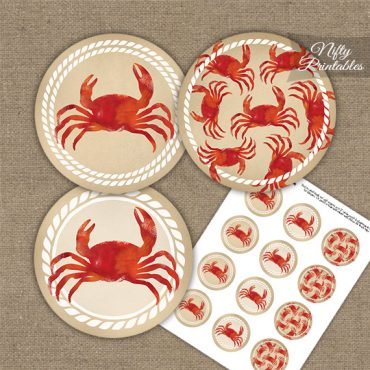 Crab Party Cupcake Toppers