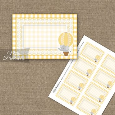 Elephant Yellow Gray Blank Labels