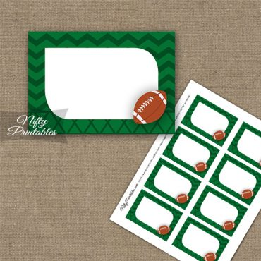 Football Blank Labels