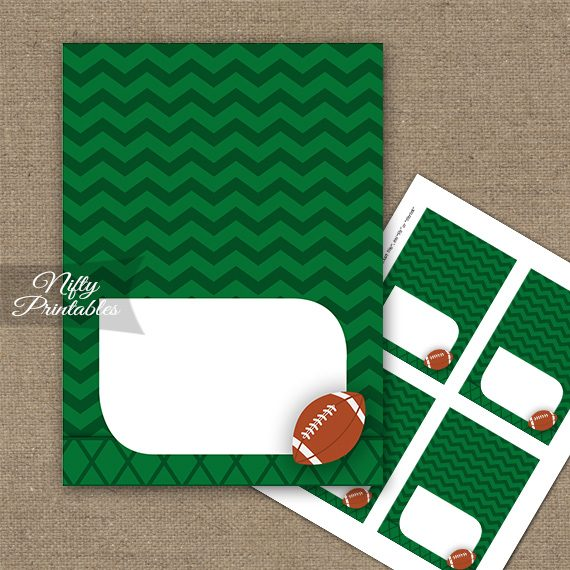 Football Tent Cards - Place Cards