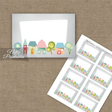 Housewarming Whimsical Blank Labels