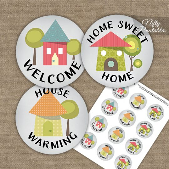 Housewarming Whimsical Cupcake Toppers
