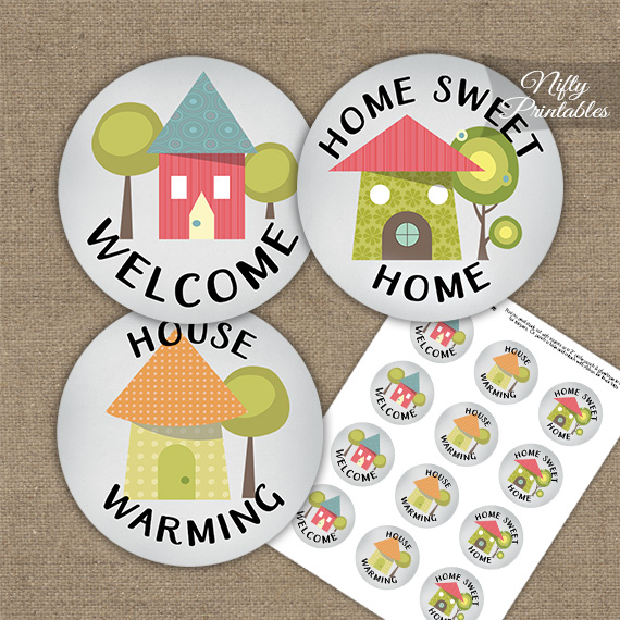 Housewarming Whimsical Cupcake Toppers