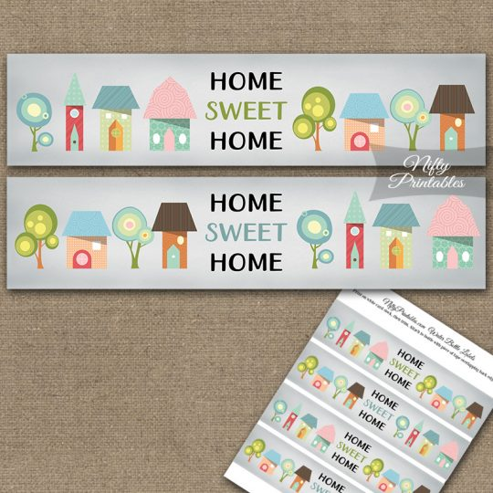 Housewarming Whimsical Water Bottle Labels