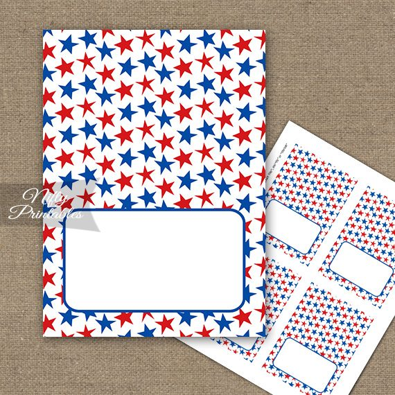 July 4th Stars Tent Cards - Place Cards