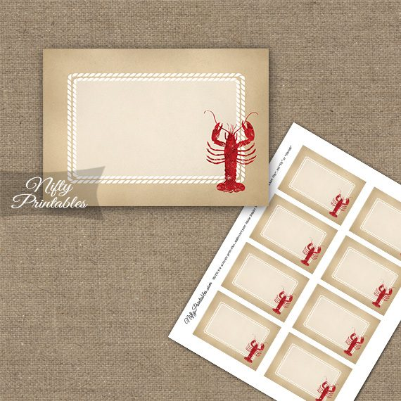 Lobster Party Blank Labels