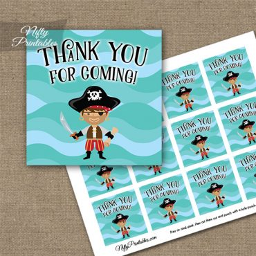 Pirate Thank You Favor Tags