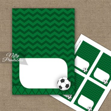 Soccer Birthday Folded Tent Place Cards