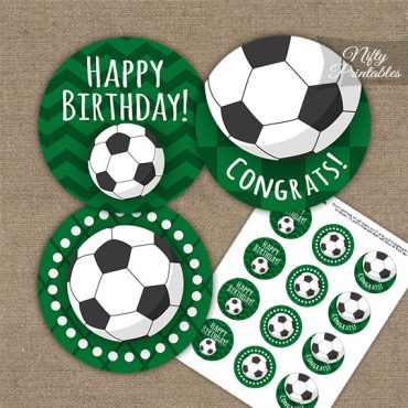Soccer Birthday Cupcake Toppers