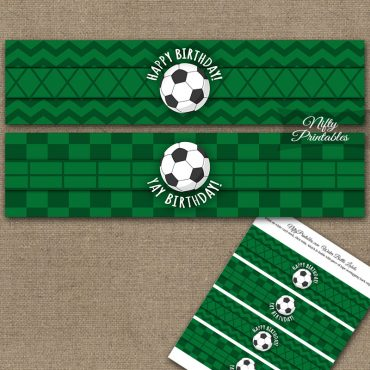 Soccer Birthday Water Bottle Labels