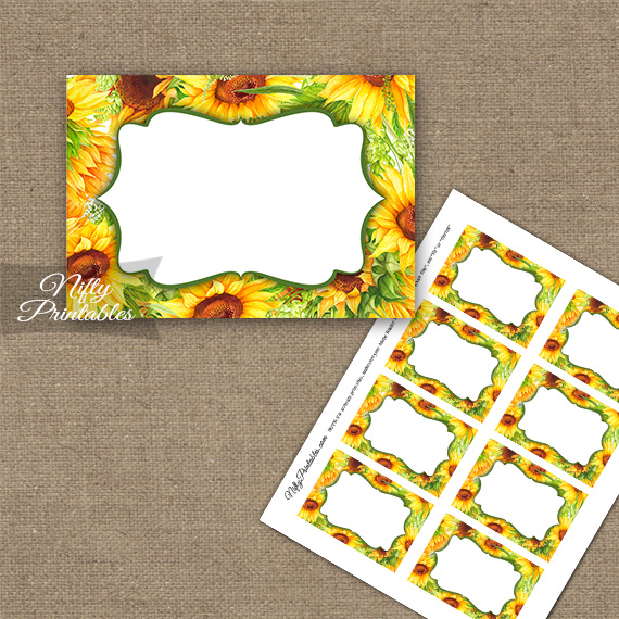 Yellow Sunflowers Blank Labels