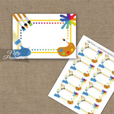 Art Party Fun Birthday Blank Labels