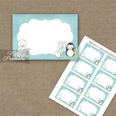Cute Winter Animals Blank Labels