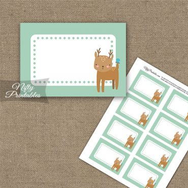 Cute Woodland Deer Birthday Blank Labels