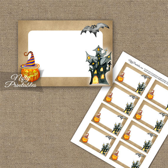 Haunted Halloween Blank Labels