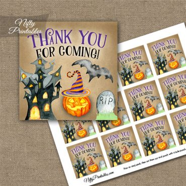 Haunted Halloween Thank You Favor Tags