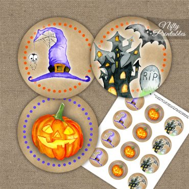 Haunted Halloween Cupcake Toppers