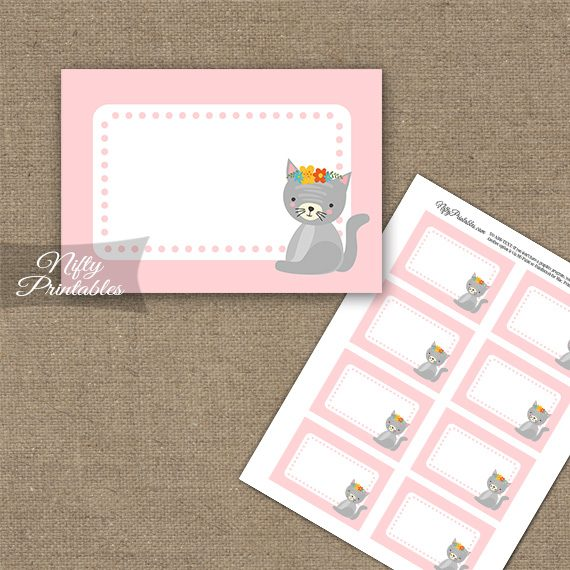 Cute Kitty Blank Labels