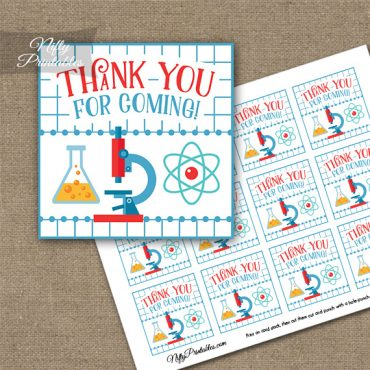 Science Fun Thank You Favor Tags